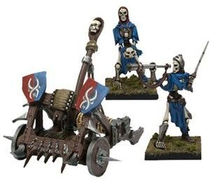 KINGS OF WAR: UNDEAD OMENS OF DEATH DETACHMENT (20 + CATAPULT)