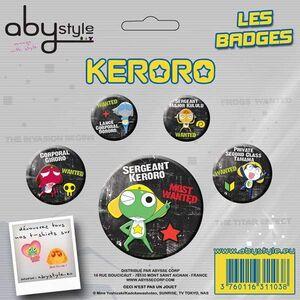 KERORO CHAPAS PACK DE 4 KERORO Y AMIGOS #1