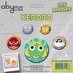 KERORO CHAPAS PACK DE 4 KERORO Y AMIGOS #2
