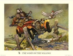 POSTER ARTHUR SUYDAM - THE WIND IN THE WILLOWS 50X70
