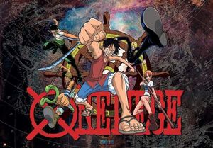 POSTER ONE PIECE LUFFY & MAP