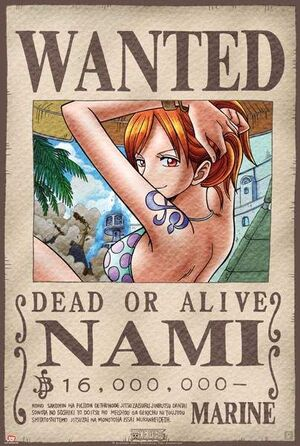 POSTER ONE PIECE WANTED NAMI