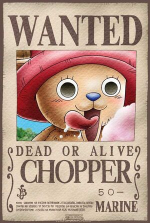 POSTER ONE PIECE WANTED CHOPPER