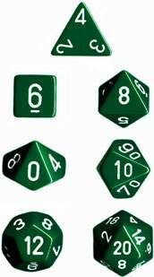 DADO PACK DE 10D10 OPAQUE GREEN / WHITE