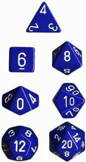 DADO PACK DE 10D10 OPAQUE BLUE / WHITE