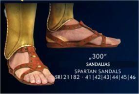 300 SANDALIAS ESPARTANAS ESCALA 1:1