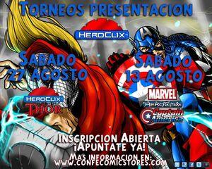 *TORNEO HEROCLIX CAPITAN AMERICA 13/08/11 17:00H