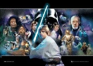 POSTER 3D FORMATO A3 STAR WARS PERSONAJES