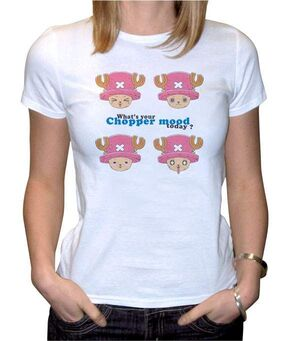 ONE PIECE CAMISETA BLANCA CHICA CHOPPER FOR WOMAN S
