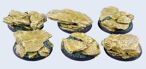 MICRO ART SHALE BASES ROUND 40MM (2) #01