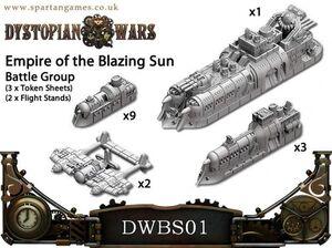 DYSTOPIAN WARS: EMPIRE OF BLAZING SUN NAVAL GROUP