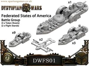 DYSTOPIAN WARS: FEDERATES STATES OF AMERICA NAVAL GROUP