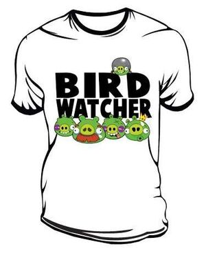 ANGRY BIRDS CAMISETA BLANCA BIRD WATCHER XL
