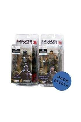 PACK MERCHAN MARCUS + COG SOLDIER FIG 18 CM GEARS OF WAR 3