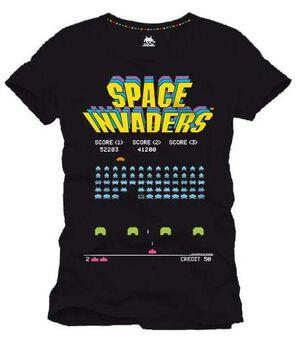 SPACE INVADERS CAMISETA NEGRA ARCADE GAME S