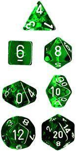 DADO PACK 10 D10 TRANS GREEN & WHITE