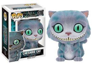 ALICIA EN EL PAIS DE LAS MARAVILLAS FIGURA 9 CM CHESHIRE CAT FLOCKED POP!