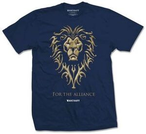WARCRAFT CAMISETA FOR THE ALLIANCE T-L