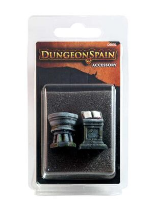 DUNGEON SPAIN: PACK ACCESORIOS ATRIL Y PILA