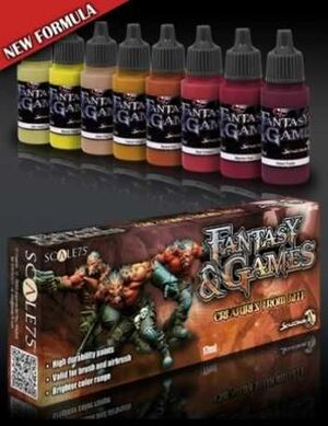 FANTASY AND GAMES. SET DE PINTURA CREATURES FROM HELL