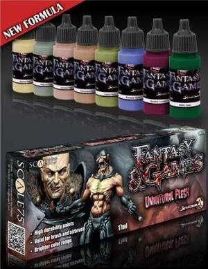 FANTASY AND GAMES. SET DE PINTURA UNNATURAL FLESH