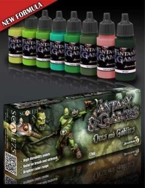 FANTASY AND GAMES. SET DE PINTURA ORCS AND GOBLINS