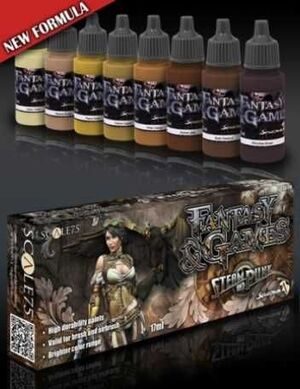 FANTASY AND GAMES. SET DE PINTURA STEAM AND PUNK