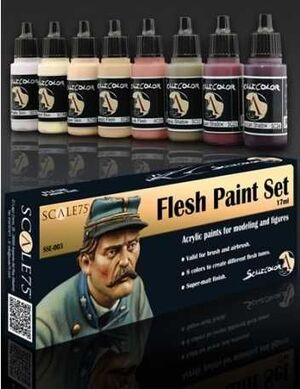 SCALECOLOR. SET DE PINTURA FLESH
