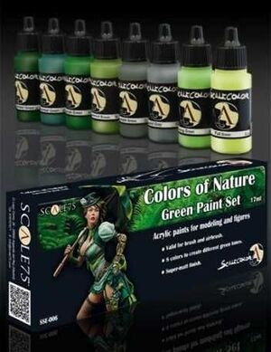 SCALECOLOR. SET DE PINTURA COLORS OF NATURE GREEN