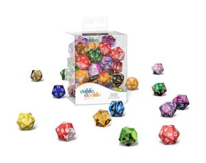OAKIE DOAKIE DADOS SPINDOWN D20 RETAIL PACK 22 MM  MIXED