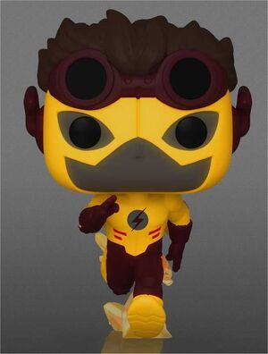 YOUNG JUSTICE FIG 9CM POP KID FLASH ED. ESPECIAL CHASE