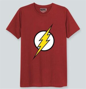 FLASH CAMISETA ROJA LOGO L