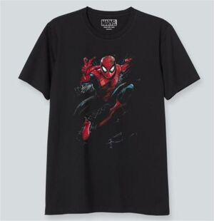 SPIDERMAN CAMISETA NEGRA AMAZING SPIDERMAN XXL