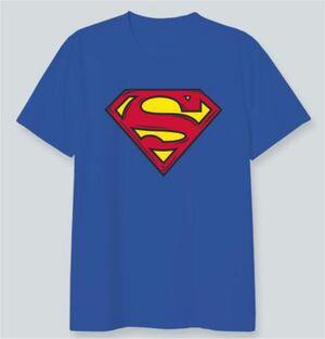 SUPERMAN CAMISETA AZUL LOGO CLÁSICO XL