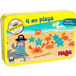 4 EN PLAYA (JUEGO DE VIAJE)